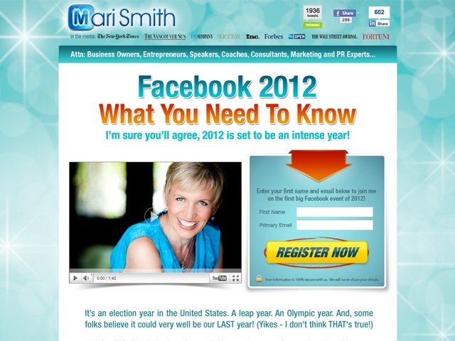 Mari Smith – Facebook2012